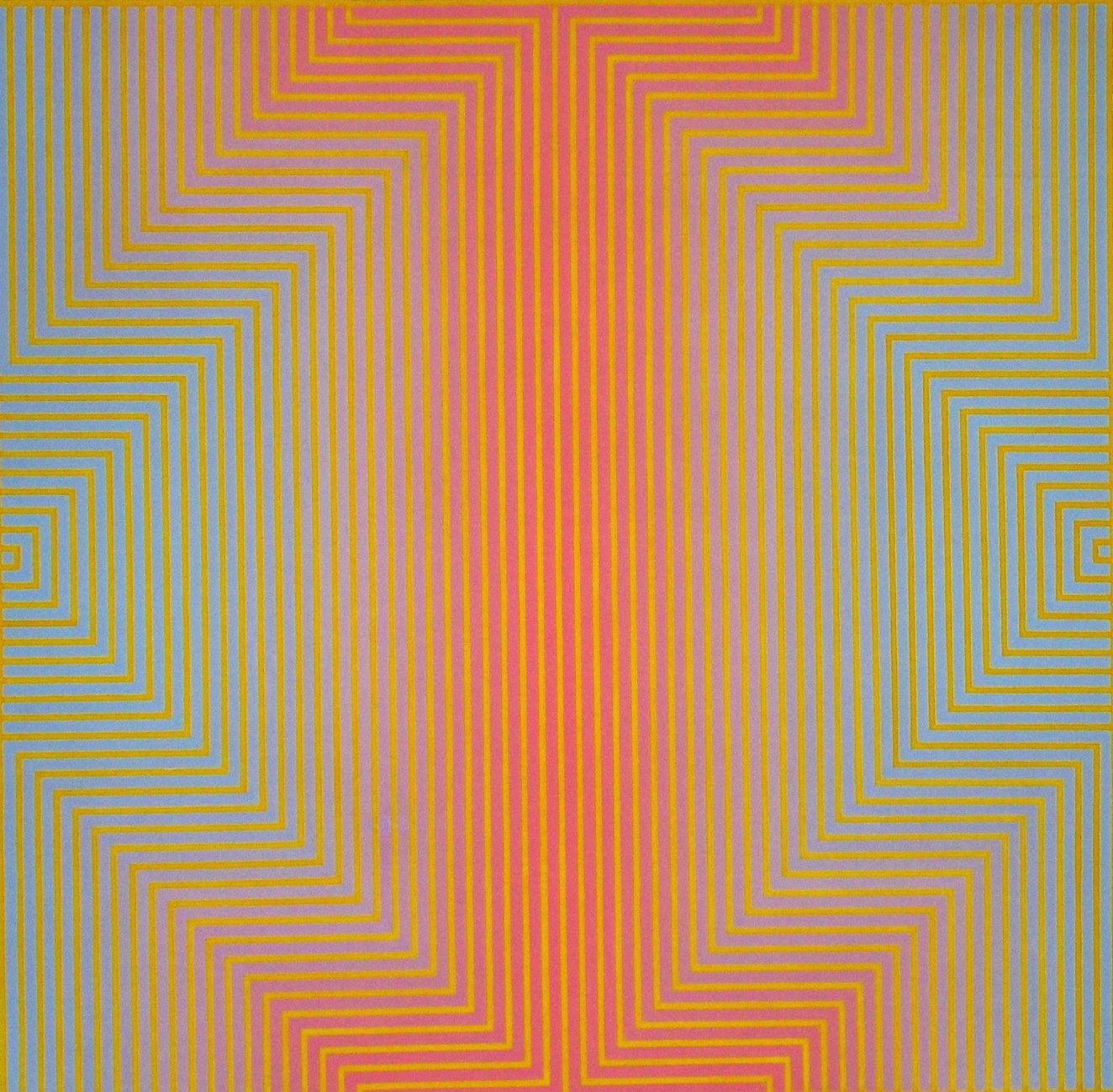 David Whitaker Yellow and Blue on Red, 1968 oil on canvas 149 x 153 cm 58 5_8 x 60 1_4 in