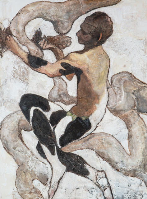 Faune after Bakst, 48_ x 36_