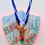 Tracy Lee Griffith JoCo, 2017 authentic African antelope with resin and acrylic layers 58 x 29 cm