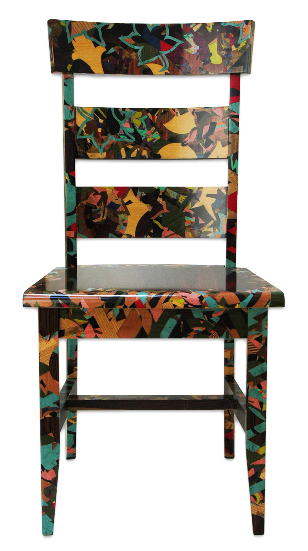 Ladder Back Chair Cherry Blossoms